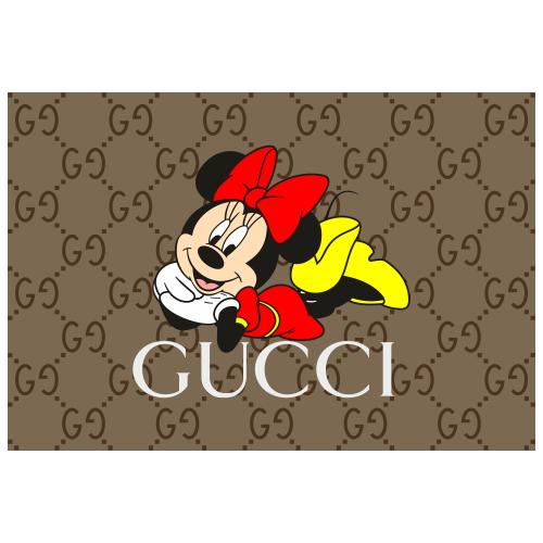 Gucci Pattern Minnie Mouse Svg