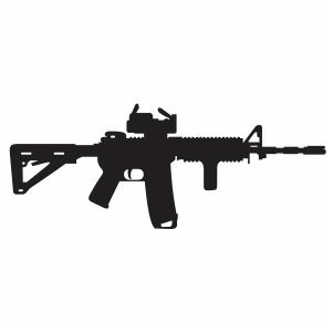 AR 15 Gun Vector