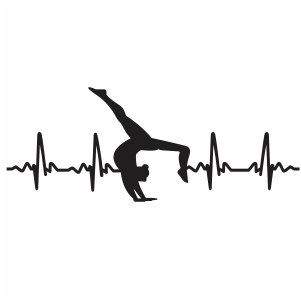 Gymnastic Heartbeat Svg