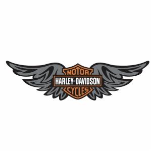 Harley Davidson Wing Logo svg cut file