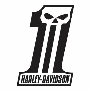 Harley Davidson Dark Custom Logo Svg