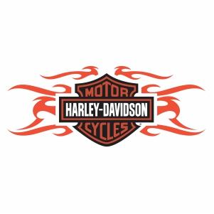 harley davidson flames logo vector file