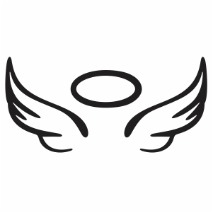 Angel Wings Halo Vector