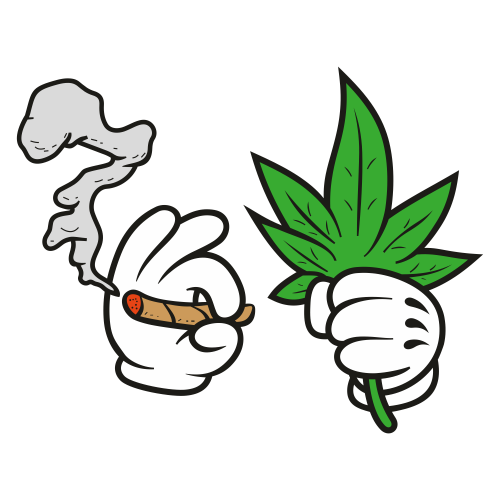 Hand Holding Marijuana Leaf And Smoking Weed Svg