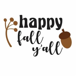 Happy Fall Yall Svg
