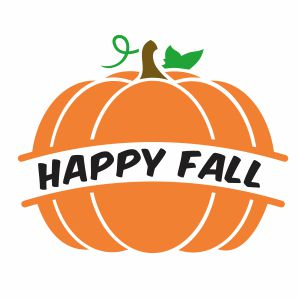Happy Fall Pumpkin Svg