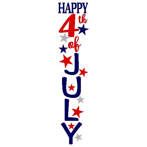 Happy 4th of July Svg Logo