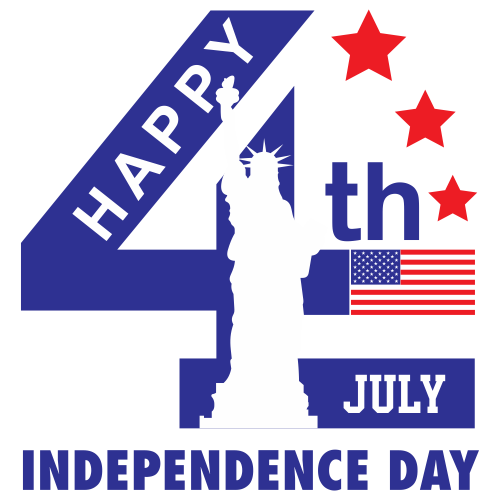 Happy 4th July Indepemdence Day Logo Svg