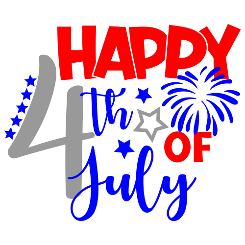 Happy 4th Of July Logo Svg