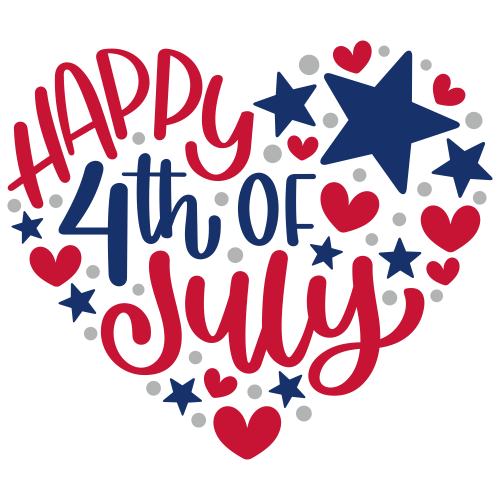 Happy 4th of July Heart SVG
