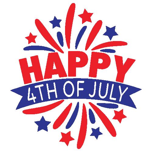 Happy 4th of July Star Svg