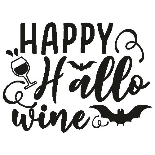Happy Halloween Wine Svg