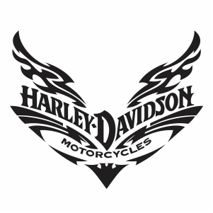 harley davidson wings up logo vector