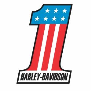 Harley Davidson Number one Usa logo svg