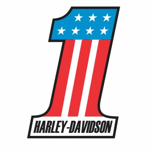 Harley Davidson Number one Usa logo