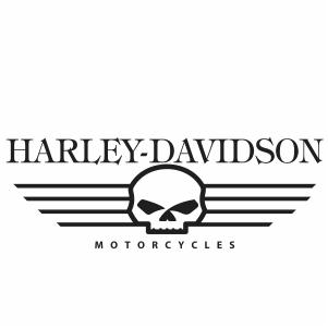 harley davidson logo skull vector