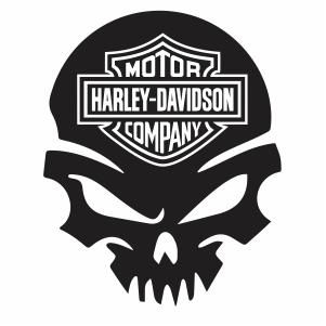harley Davidson Skull Logo svg