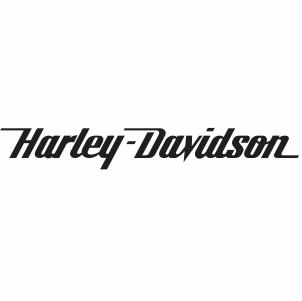 harley davidson script logo svg