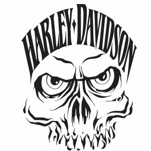 harley davidson skull face logo vector