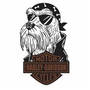 schnauzer harley davidson Logo svg