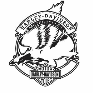 Harley Davidson motorcycle eagle logo vector