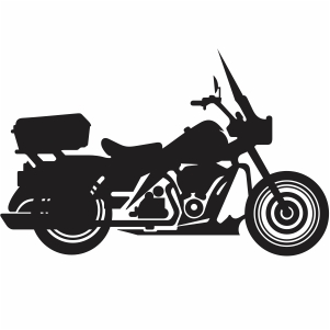 Harley Davidson american style motorcycle svg file