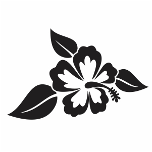 Hibiscus With leaves Svg