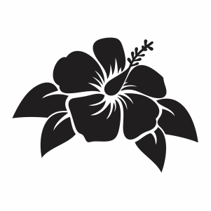 Hibiscus Flower Leaf Svg