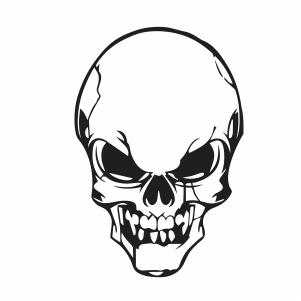 Skull Head Svg