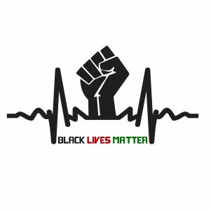 Black Lives Matter EKG Vector