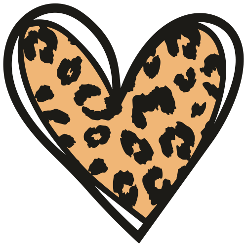 Leopard Heart Svg