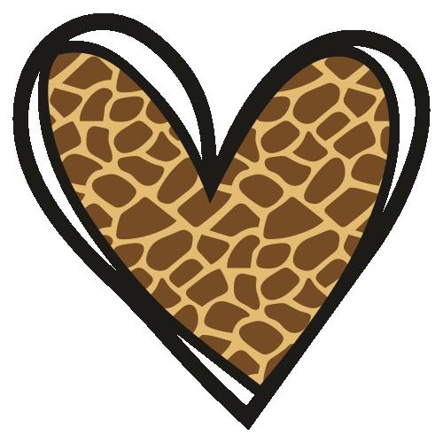 Giraffe Heart Print Svg