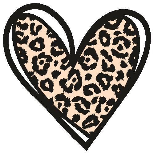 Leopard Heart Print Svg