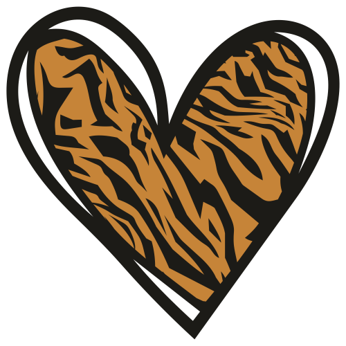 Tiger Heart Print Svg