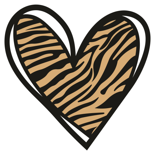 Tiger Heart Pattern Svg
