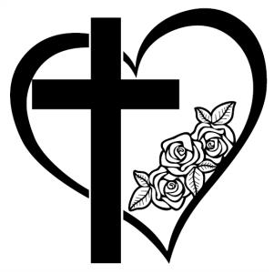 Heart Frame Rose svg file