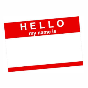 Hello My Name Is logo Vector