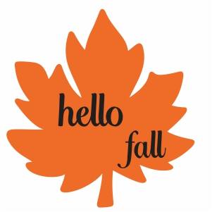 Hello Fall Svg For Silhouette