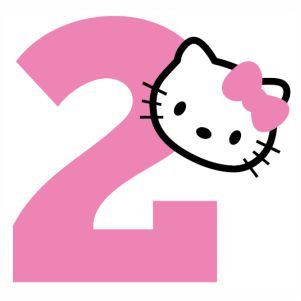 Hello kitty 2nd Birthday svg