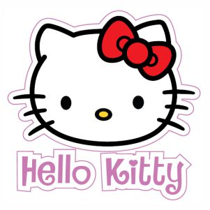 Hello Kitty Head svg cut