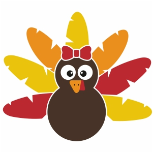 Turkey With Bow Svg