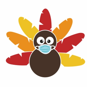 Turkey With Mask Svg