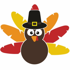 Turkey With Hat Svg