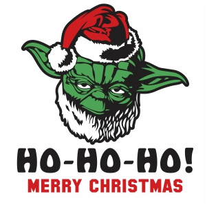 Ho Ho Ho Merry Christmas Yoda Svg
