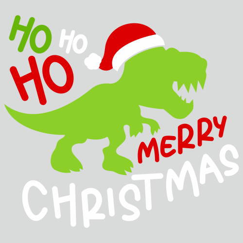 Ho Ho Ho Merry Christmas Dinosaur Svg