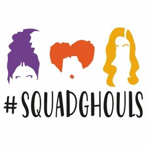 Hocus Pocus Squad Ghouls Svg