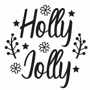 Holly Jolly Svg