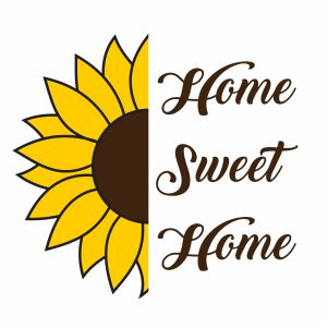 Home Sweet Home Sunflower Svg