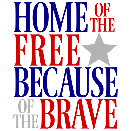 Home of The Free Svg