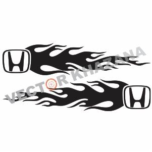 Honda Logo Flames Svg